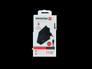 Swissten ładowarka sieciowa SAMSUNG 25W + Kabel USB-C/USB-C 1,2 M black box