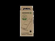 Swissten ładowarka sieciowa SMART IC 2x USB 2,1A  ECO PACK black box