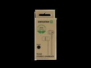 Swissten zestaw słuchawkowy EARDBUS RAINBOW YS-D2 ECO PACK black box