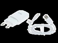 TC-E250 HTC ładowarka sieciowa white + kabel bulk