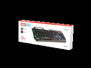XO klawiatura przewodowa KB-01 metalowa RGB black box