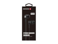 YS-D2 SWISSTEN zestaw słuchawkowy black retail