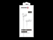 YS-D2 SWISSTEN zestaw słuchawkowy white retail